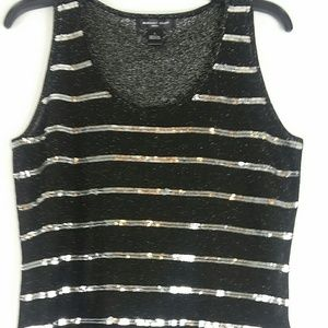 August silk sequence/sparkle tank top